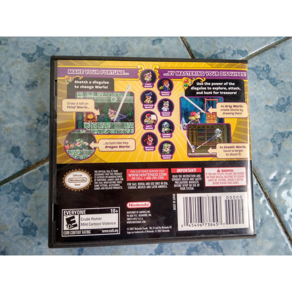 drawing games for nintendo ds Kaset NDS Wario Master Of Disguise Cartridge