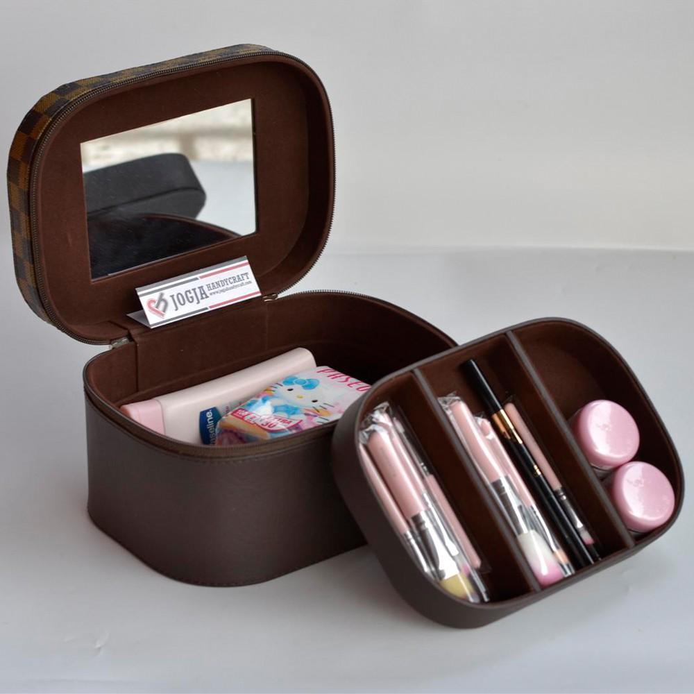 Toko Online Jogja Handycraft Shopee Indonesia Tas Kosmetik Tempat Makup Beauty Case Box Make Up Banyak Warna