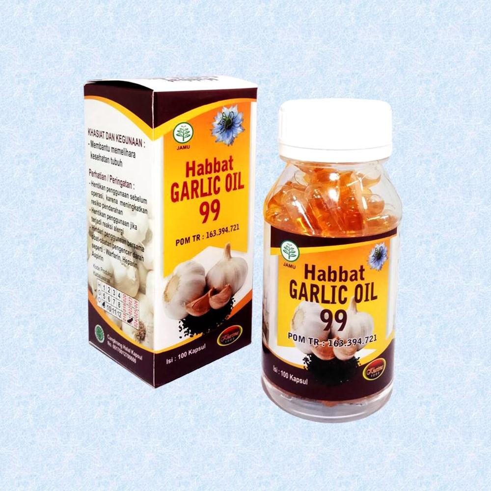 [PROMO] Habbat Garlic Oil 99 Kharisma 100 Kapsul Ekstrak Bawang Putih | Shopee Indonesia