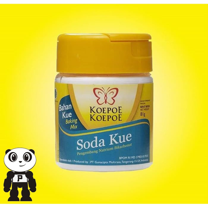 Koepoe Koepoe Soda Kue Baking Soda Pengembang Kue Natrium Bikarbonat 81gr |  Shopee Indonesia