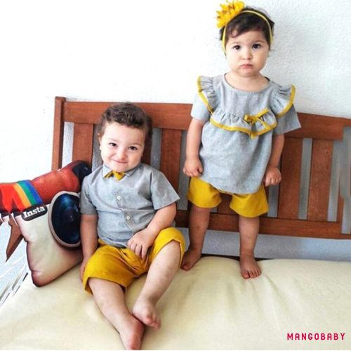 US Family Matching Clothes Big Sister T-shirt Little Sister Romper Pant Outfits