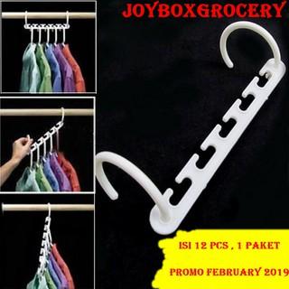 Perbandingan harga Set Magic Wonder Hanger Ajaib Gantungan Baju pakaian Organizer Isi 12 pcs lowest price - only 26.380Rp
