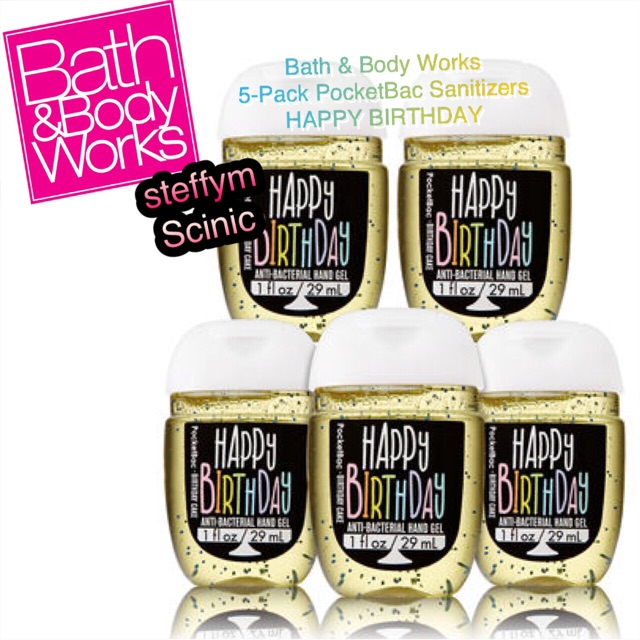 Bath And Body Works Pocketbac Hand Sanitizer 5 Pack Happy Birthday Shopee Indonesia