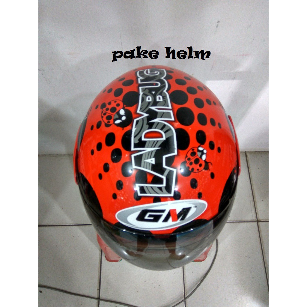 Restock Helm Gm Evolution Motif Lady Bug White Shopee Indonesia Zeus Half Face Zs 218 Retro Iron Head Grafik Putih Ss6 Hitam