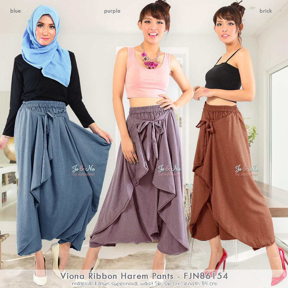Jo Nic Celana Harem Viona Fit To Big Size Blue Cek Harga Terkini Wrapped A Line Long Skirt Btnl70254