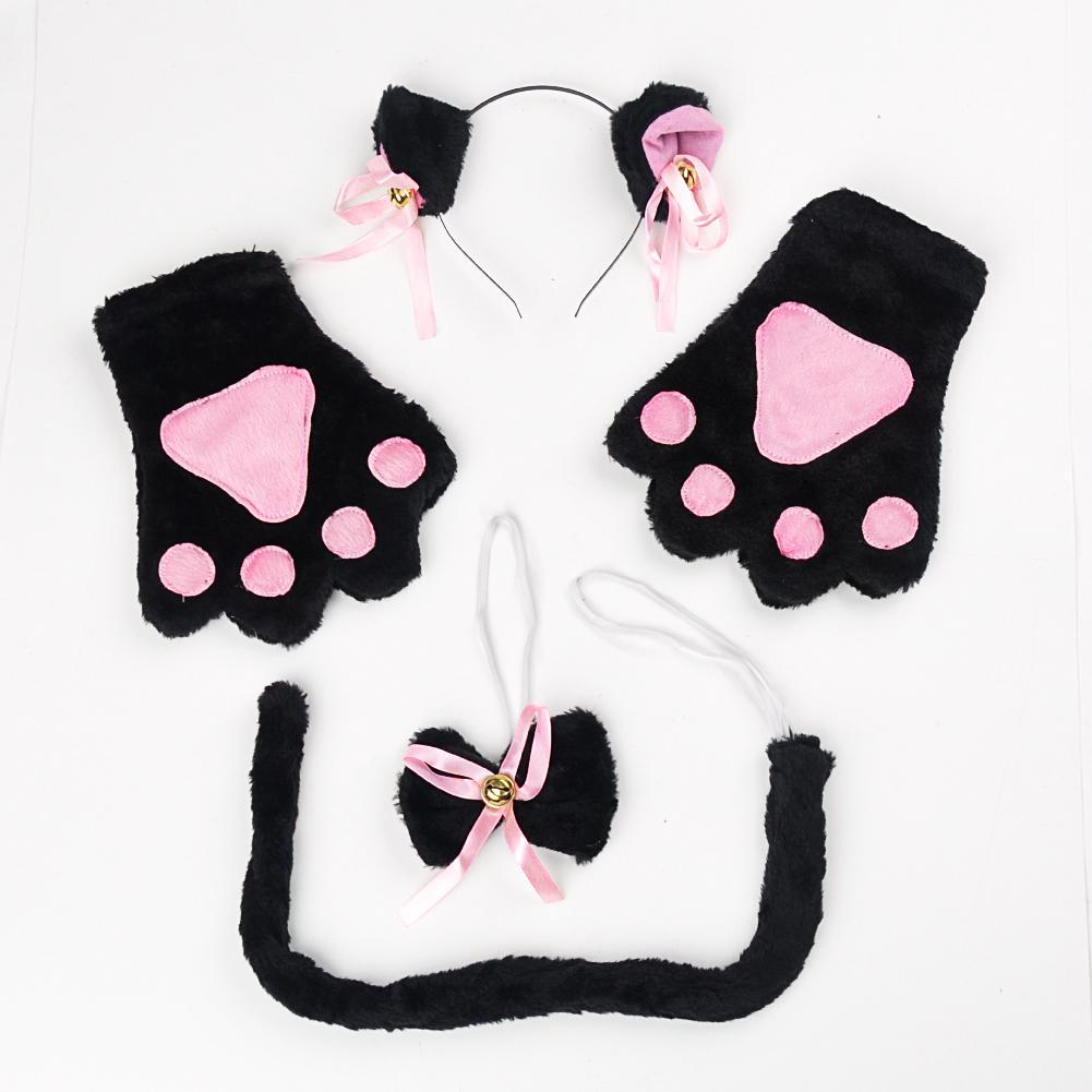 Set Kostum Cosplay Anime Kucing dengan Bando Telinga ...