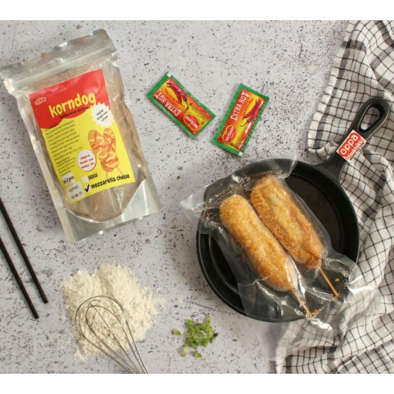 Corn Dog Sosis Moza Korean Food Frozen Food Makanan Korea Jajanan Korea Shopee Indonesia