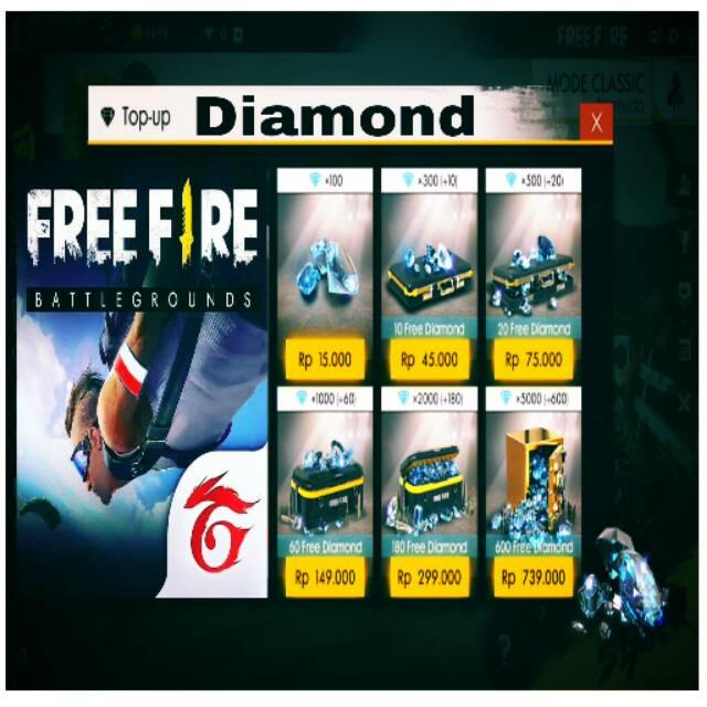 Promo Belanja FREEFIRE Online 92cca85b58