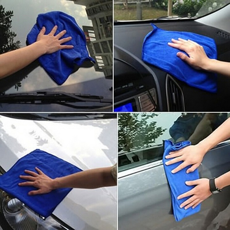 5Pcs Soft Absorbent Wash Clean Cloth Car Auto Care Microfiber Cleaning Towels