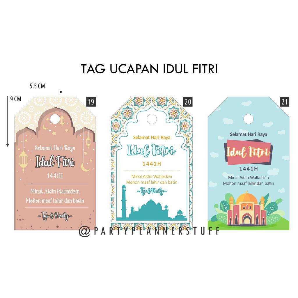 Kartu Ucapan Parcel Greeting Card Eid Mubarak Kartu Ucapan Idul Fitri Kartu Hampers Lebaran Shopee Indonesia