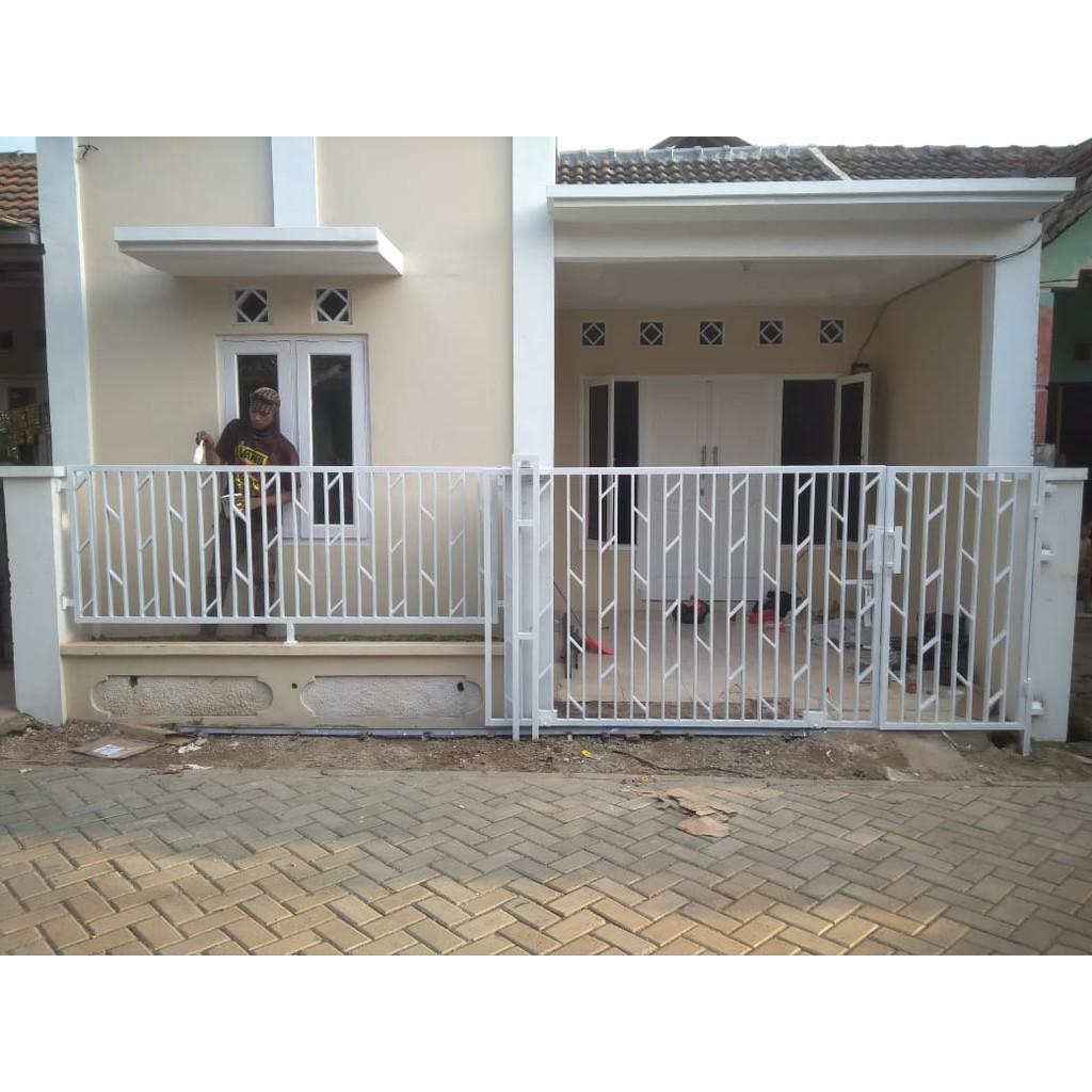 Pintu Pagar Besi Rumah Sliding Atau Lipat Tertera Harga Per Meter
