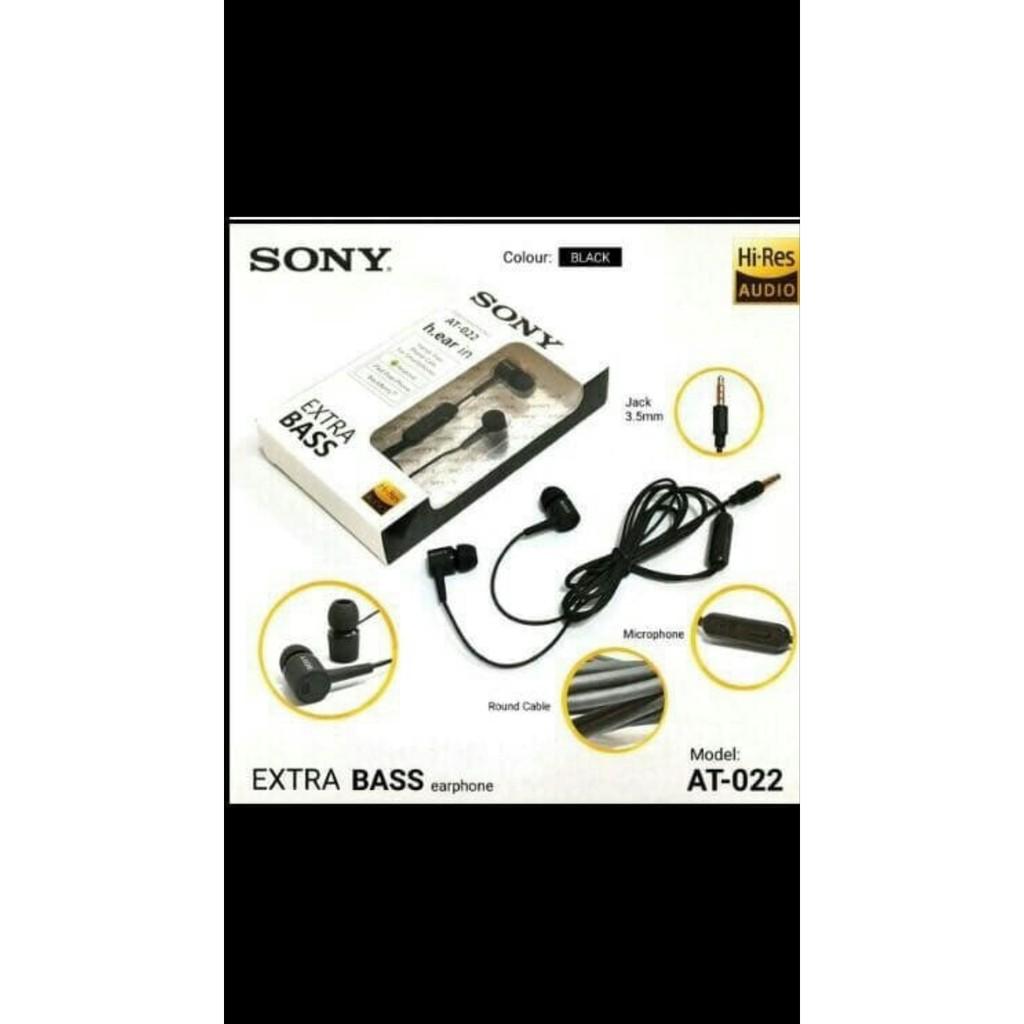 SONY MH hf Headset Earphone handsfree stereo karaoke kabel cable