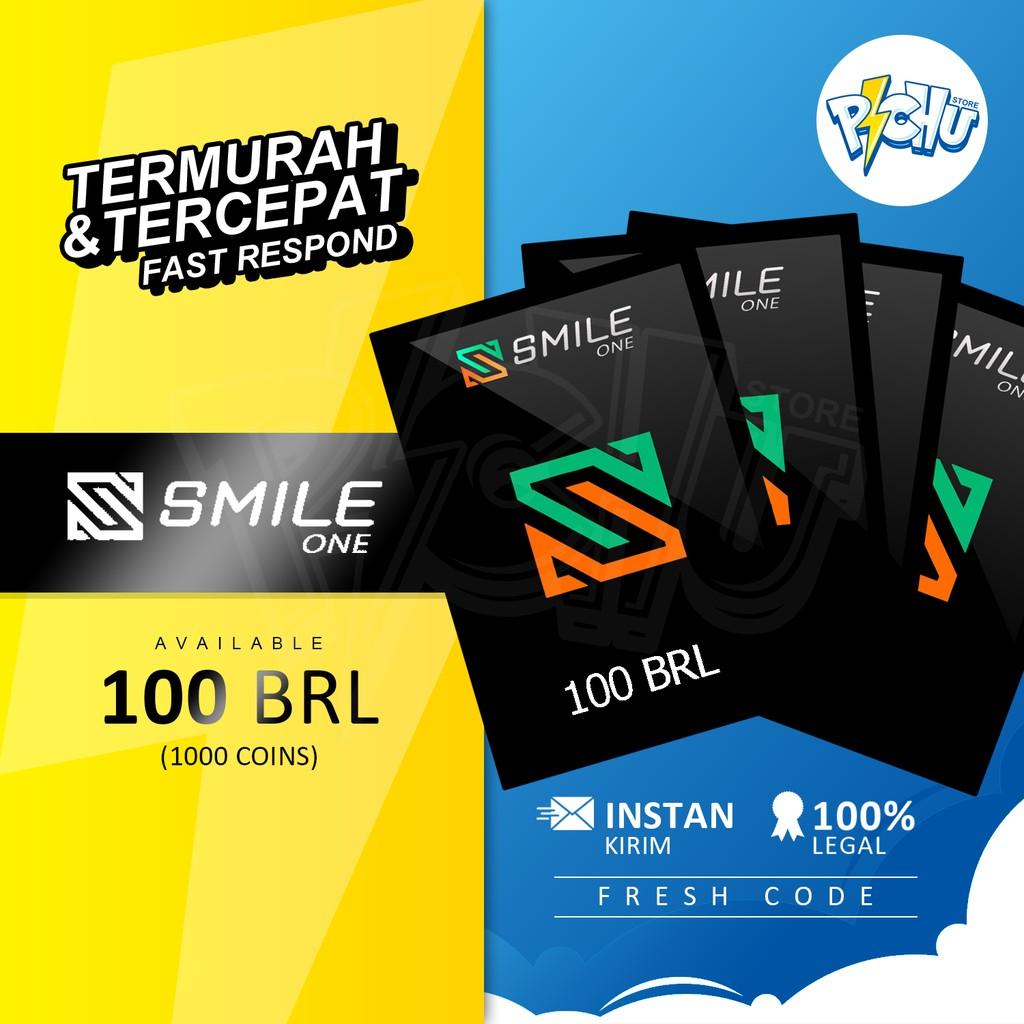 [Instant Kirim] SMILE ONE CODE 1000 COINS / 100 BRL