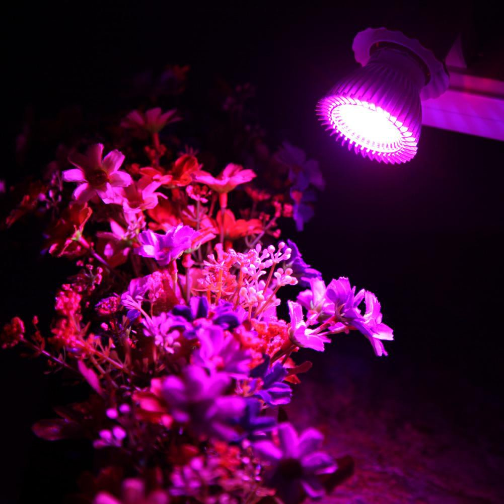 10W E27 106LED Plant Grow Light Lamp Bulb F// Indoor Horticulture Plant Vegetable