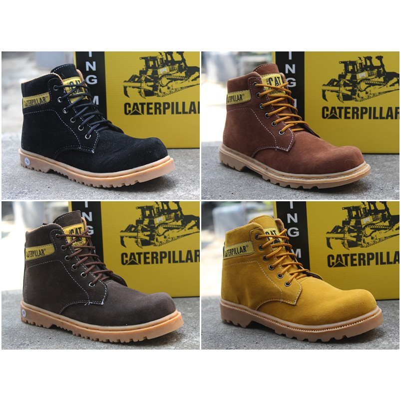Sepatu Caterpillar Safety Boots Pria Orion Coklat Muda Bahan Suede ... 27b7212d87