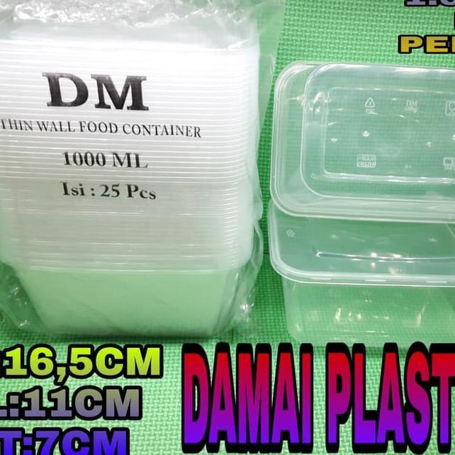 ➾ Thinwall DM 1ML Food Container Lunch Box Tempat Bekal Makan - 1ml Dm (Baru)