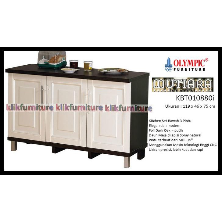 New Product Kbt 010880i Olympic Mutiara Kitchen Set Bawah 3 Pintu