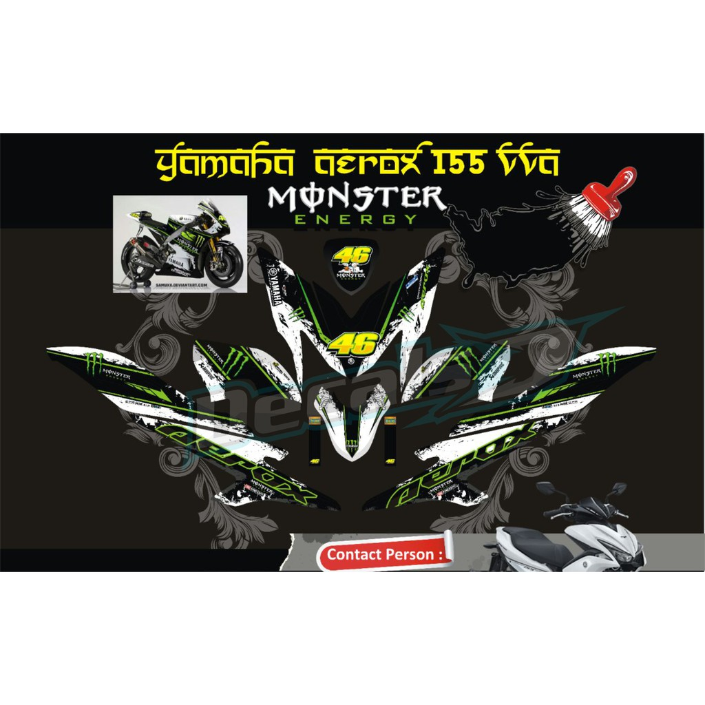 Decal stiker yamaha r 25 monster energy shopee indonesia