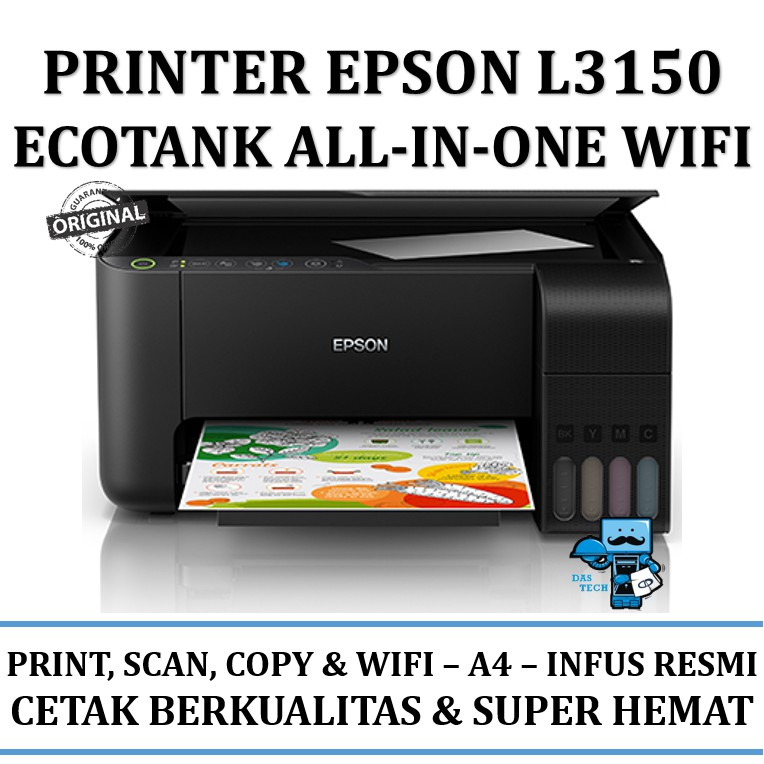 Printer Epson EcoTank L3150 Wi-Fi All-in-One Ink Tank Printer