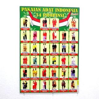 Foto Baju Adat Daerah Di Indonesia Poster Pakaian Adat Daerah Shopee Indonesia