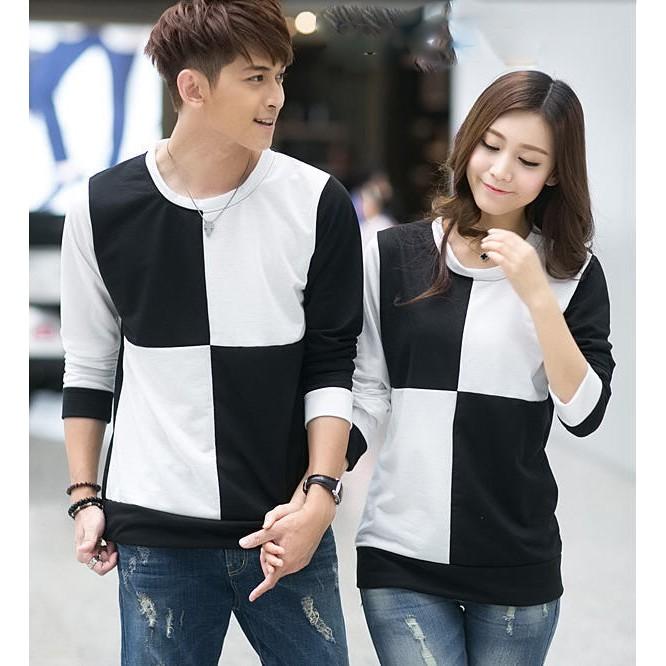 FREE ONGKIR Kaos Baju Couple Lengan Panjang (Kembaran   Coupel   Kapel    Pasangan   Sepasang ) AB35  d567becb10