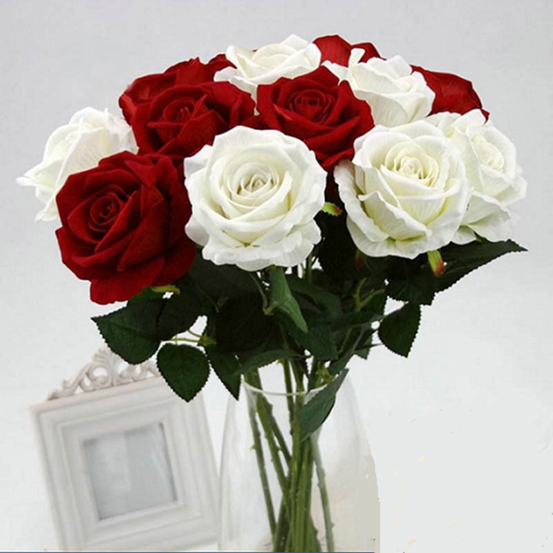 Bayar Di Tempat Buket Bunga Mawar Camellia Buatan dengan Bahan Kain Sutra  untuk Dekorasi  cea4d036b6