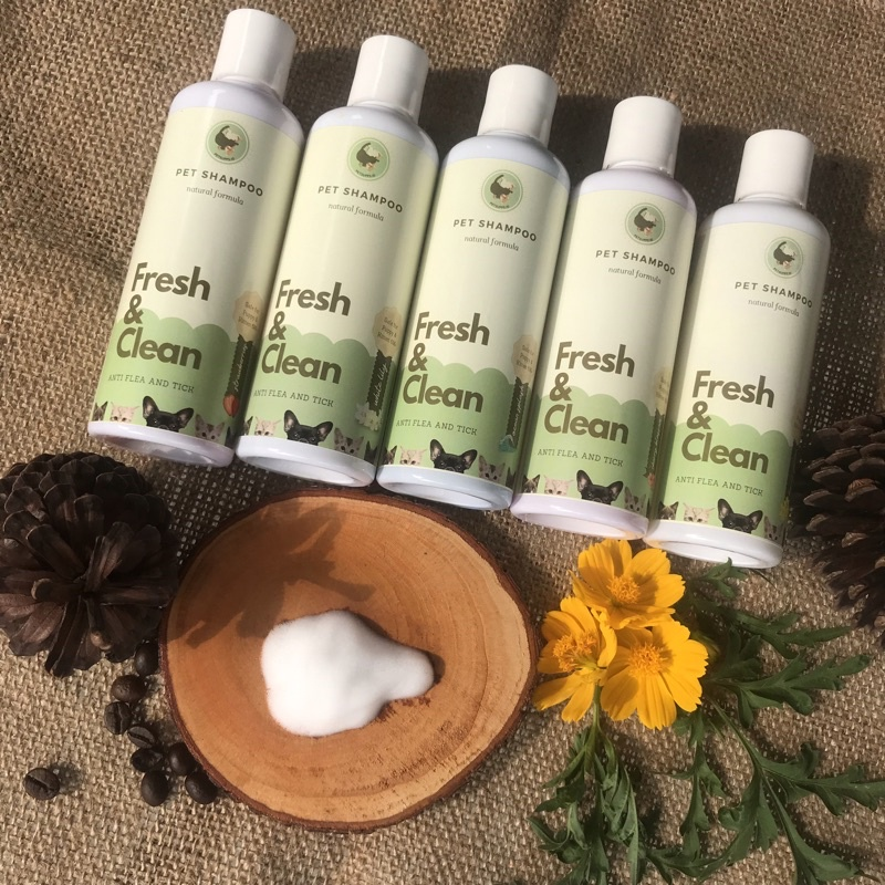 Shampo kucing anjing | shampo anti gatal dan kutu | cat and dog shampoo | natural pet shampoo 250ml