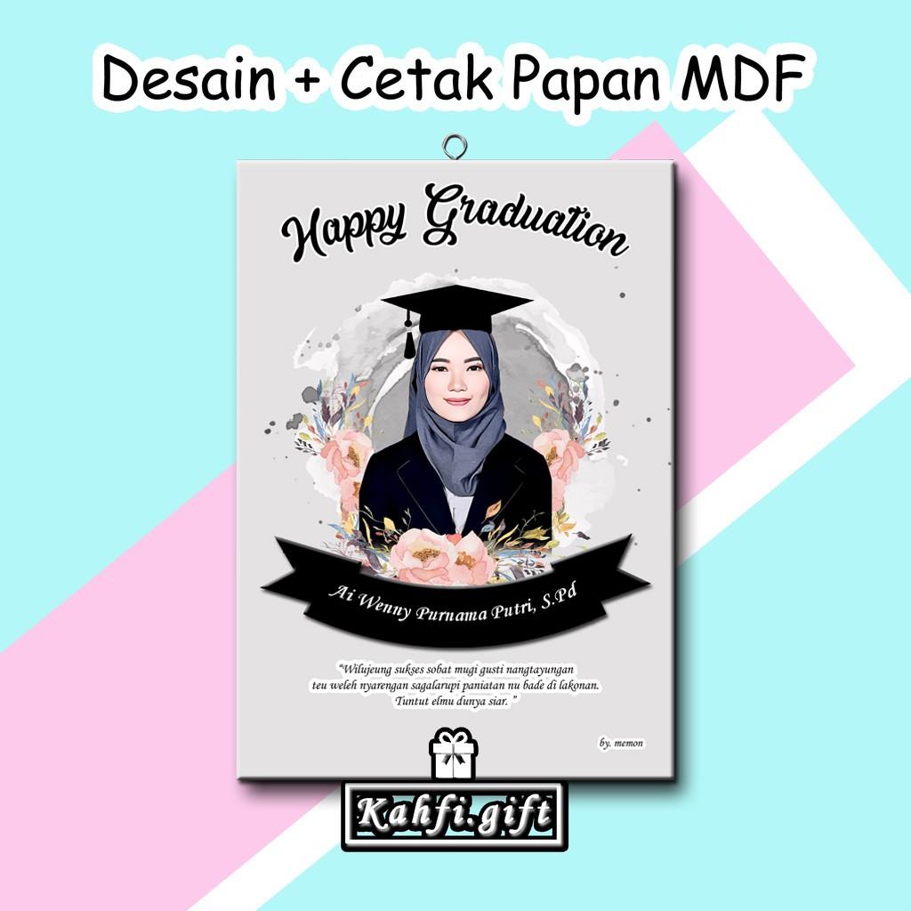 Desain Foto + Cetak Papan MDF (20x30cm) Kado Wisuda, Ulang ...