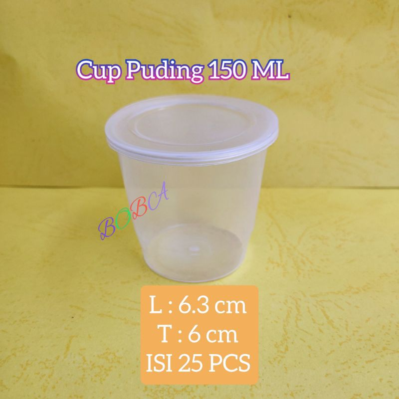 Cup Puding Bening 150ml/Cup Merpati 150ml/Cup Saos 150ml/Cup Es Batu