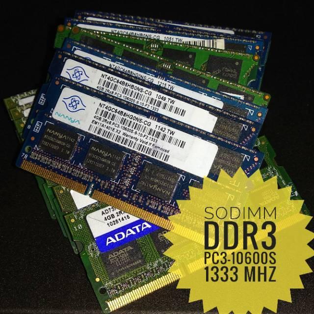 ram laptop ddr3 4gb pc 10600 1333 mhz pc10600