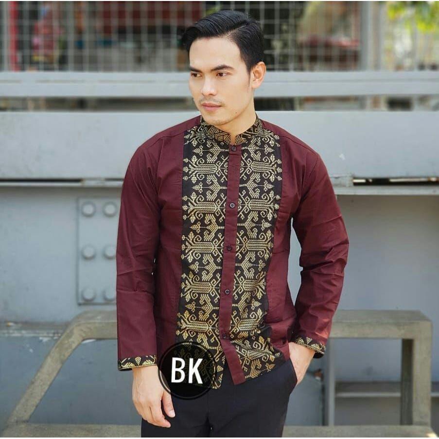 Baju Koko Muslim Pria Lengan Panjang Kkl 101 Shopee Indonesia Katun Hijau Tua 60