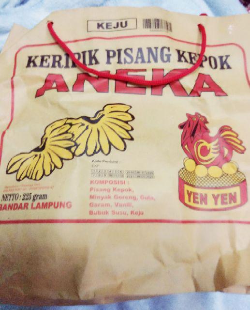 Keripik Pisang Lampung: Aneka Keripik Pisang Coklat Lampung Kemasan (225 Gr