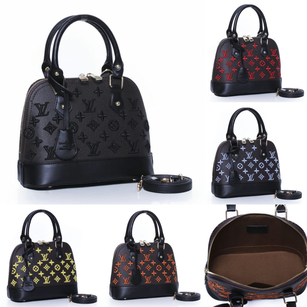 Tas Lv Alma Bb Monogram Eclipse Embroidered Seprem 58115 Joc Shopee Indonesia