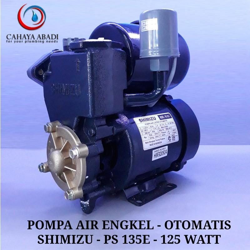 POMPA AIR SHIMIZU - PS 135 E - 125 WATT - OTOMATIS - POMPA ...