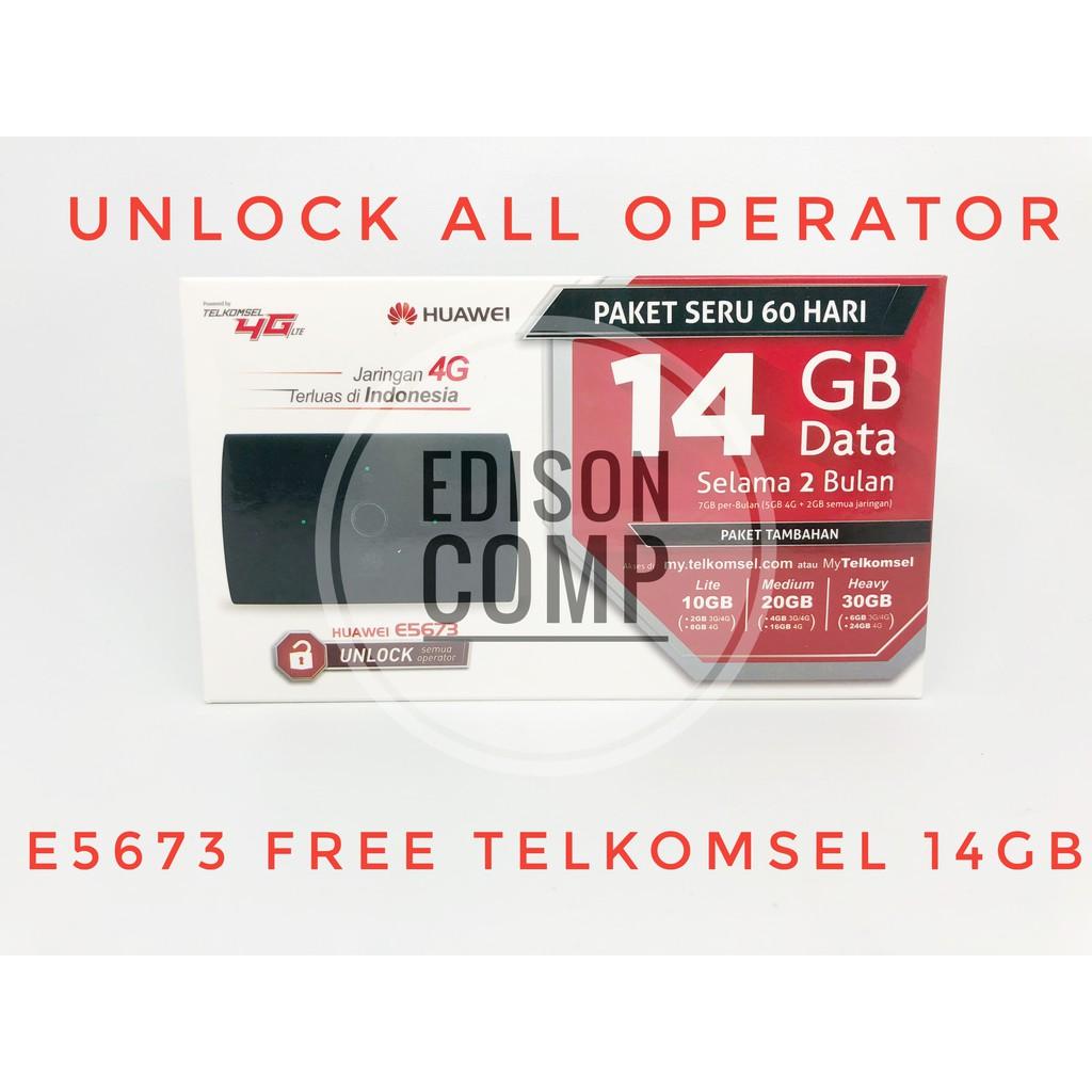 Mifi 4g Lte Huawei E5673 Unlocked Free Telkomsel 14gb Garansi Resmi Router Modem Wifi E5573 Bypass Tsel Shopee Indonesia