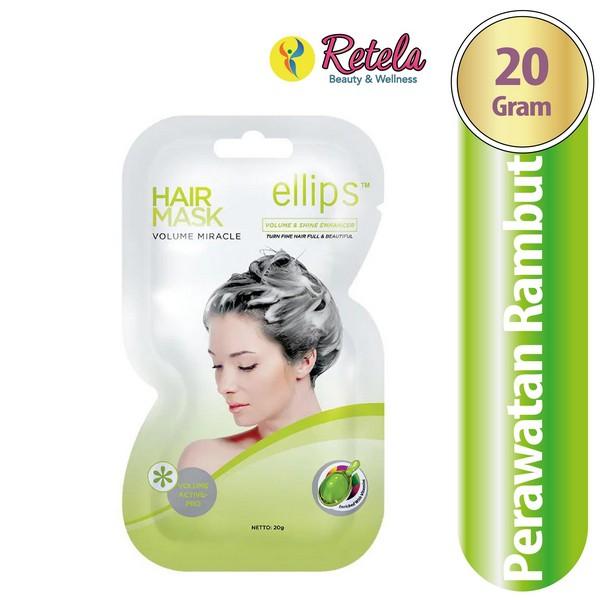 Ellips Vitamin Hair Mask Volume Miracle 20g Shopee Indonesia