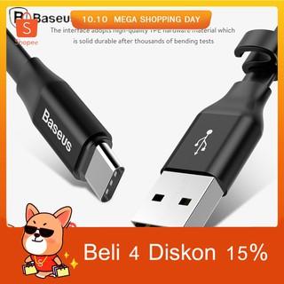 100% Original BASEUS Kabel Data/Charger USB Tipe C 23Cm 3A Portable untuk Ponsel/Android