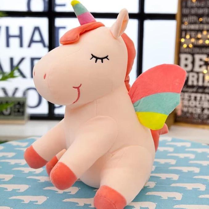 harga boneka unicorn sedang  boneka baru