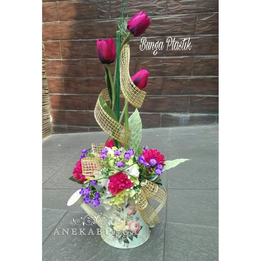 Bunga Plastik Pot Meja Artificial Flower Palsu Grand Opening Ucapan  Pembukaan Toko Hias Vas Pajangan  ea484758df