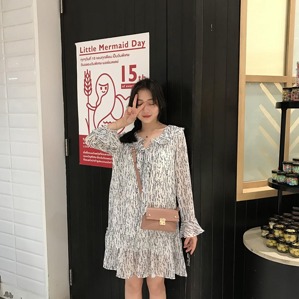ita 2018 rok anggur merah baru versi Korea dari pinggang kasual tipis V-neck eng   Shopee Indonesia