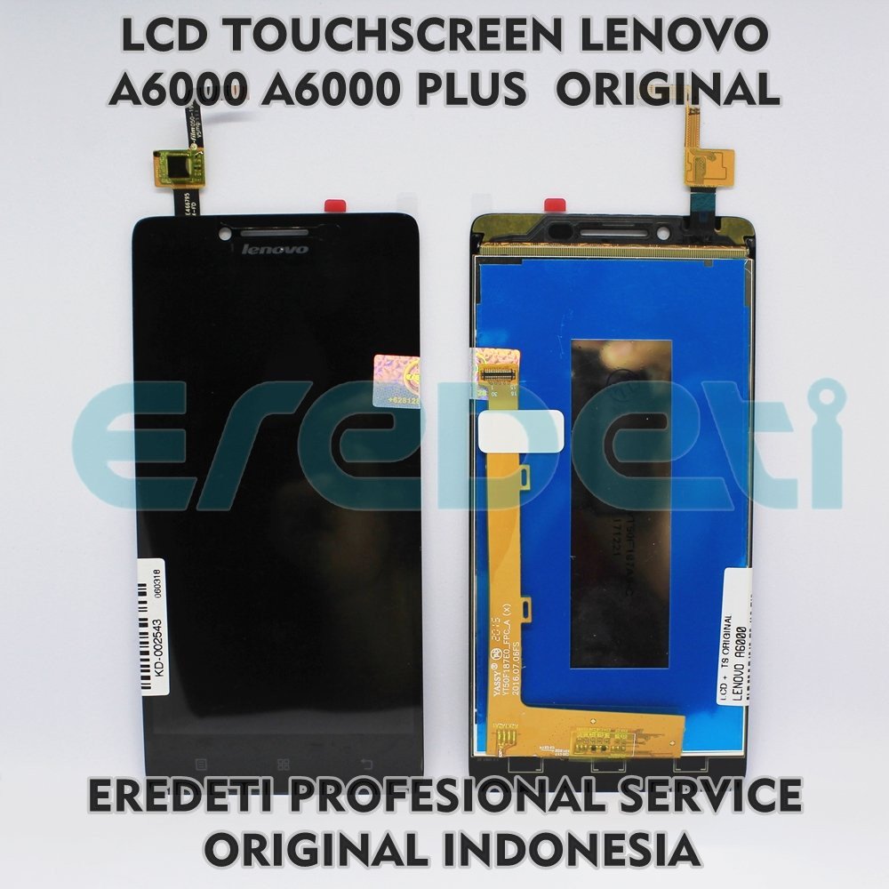 LCD TOUCHSCREEN LENOVO A6000 PLUS ORIGINAL KD 002543