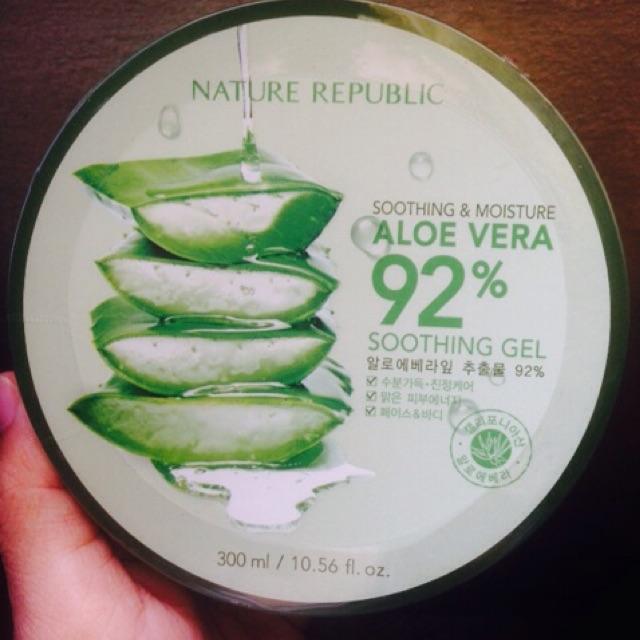 100% ORIGINAL NATURE REPUBLIC alovera soothing gel