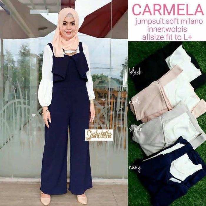 Tunik Overall Wd / Atasan Wanita Muslim / Hijab / Jumpsuit / Polos A75 berkualitas | Shopee Indonesia