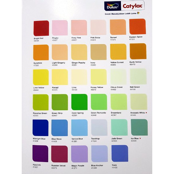 Cat Dulux Catylac Interior 25 Kg Semua Warna Shopee Indonesia