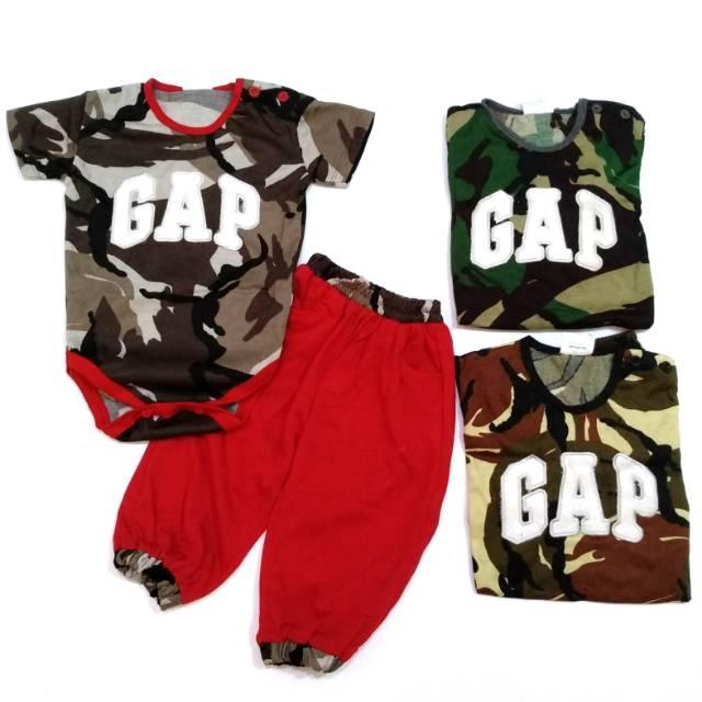 Baju Setelan Jumper Anak Bayi Cowok Laki-Laki Army Loreng ...