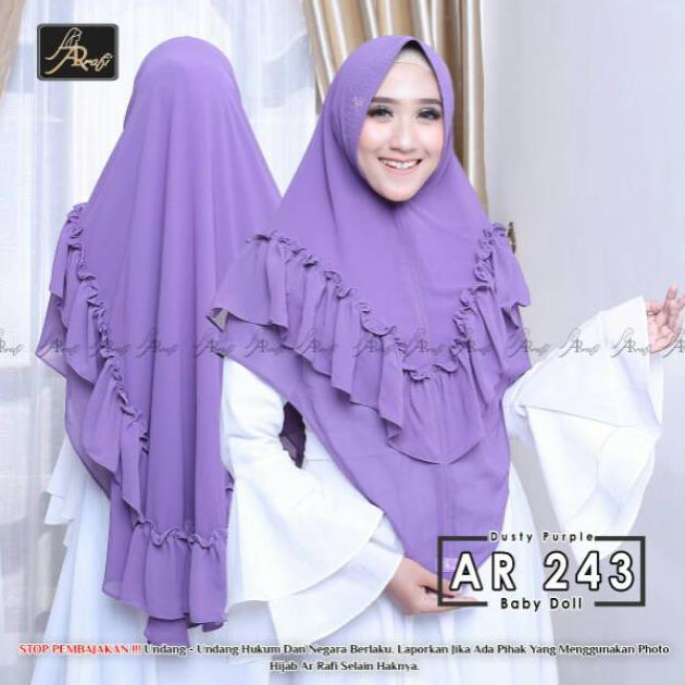 Hijab Arrafi Ar 243 Syar I Rempel Jilbab Jumbo Kerudung Brand Khimar Baby Doll Jilbab Jumbo Kerudung Shopee Indonesia