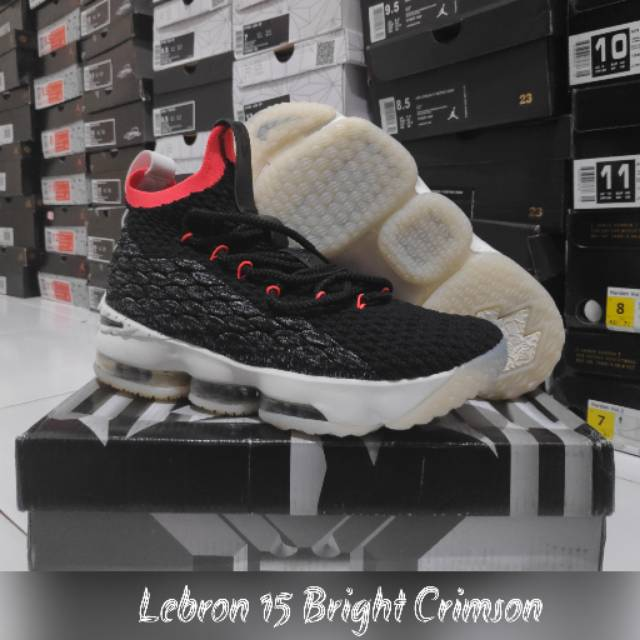 79aed96829b Sepatu basket Lebron 15 Blackgum   Yellow   James hitam coklat ...