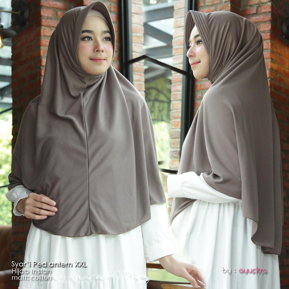 Khimar Pet Jumbo Xxl 90x110cm Syari Antem Hijab Kerudung Jilbab Instan Wolfis Penguin Premium Shopee Indonesia