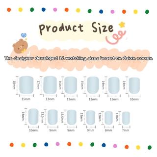24pcs Kuku Palsu Lucu Dengan Lem Untuk Manicure R0102-R120 7
