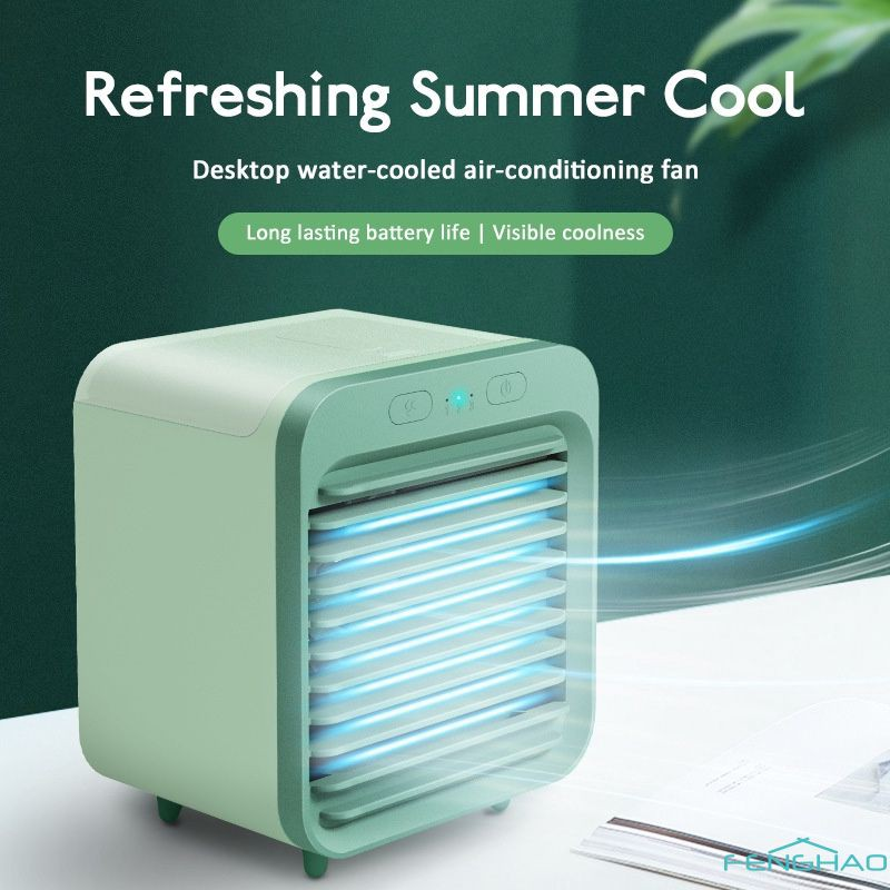 Af Mini Air Conditioner Cooling Artifact Desktop Refrigeration Spray Usb Small Fan Student Office Cooler Fan A Shopee Indonesia